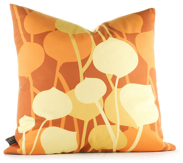Inhabit Seedling Graphic Pillow - in Rust modern-decorative-pillows