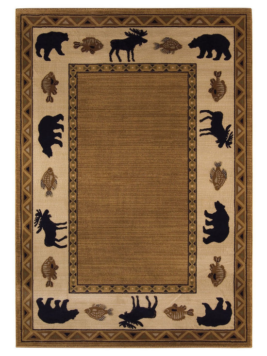 Cabin Retreat rug in Praline - Bring the great outdoors home with this striking lodge pattern. Precision woven using sturdy double-twisted olefin yarns, the Cabin Retreat collection combines comfort and quality.