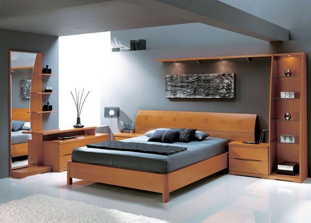 Made in spain wood platform bedroom set with extra storage - Houzz dormitorios ...