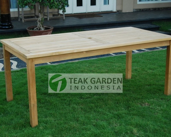 Teak Garden Furniture, Rectangular table - Teak dining table, visit  http://www.teakgardenindonesia.com for more info