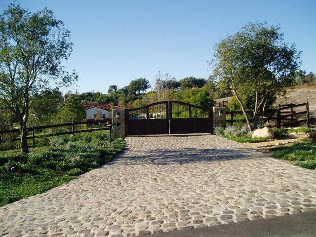 Estate driveways entries gates paving mediterranean san diego
