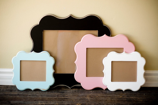 Whimsical and Unique Picture Frame by Orange Blossom Shop contemporary frames