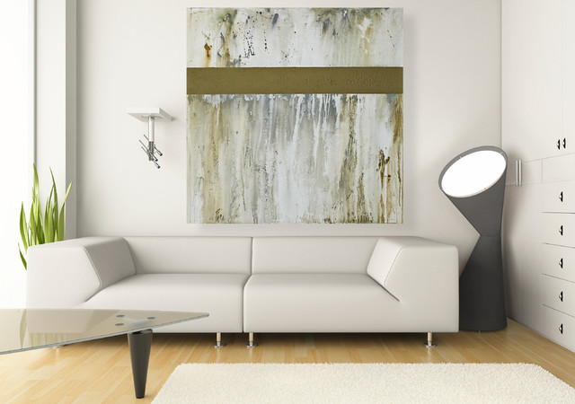 Large Wall Art Original 40x40 Inch Neutral Abstract
