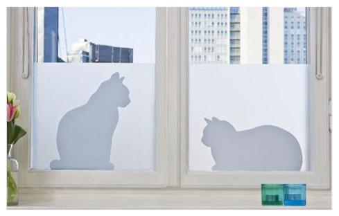 Window Film/Privacy Film 18 7/8 x 47 1/4 Cats contemporary-window-treatments