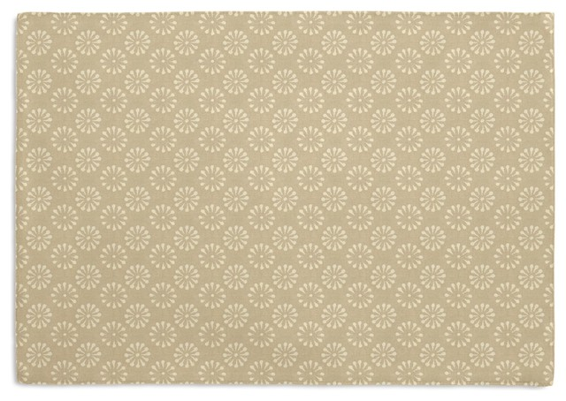 Taupe Small Dot Custom Placemat Set contemporary-table-linens