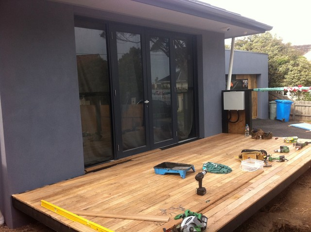 Timber French Doors Replacement in Brighton, Melbourne contemporary-windows