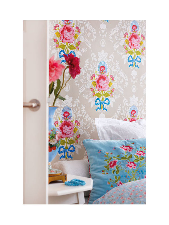 Floral Wallpaper - a chic vintage floral wallpaper by Eijffinger available from Brewster Home Fashions