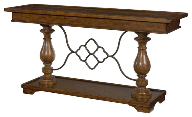 Hammary Homestead Sofa Table in Antique Brown