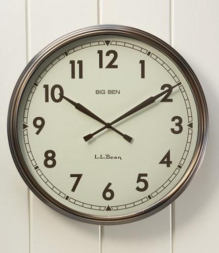 Traditional Wall Clocks by L.L. Bean