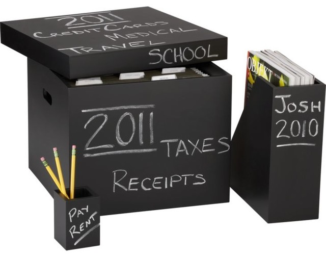 Chalkboard Office Accessories contemporary-desk-accessories