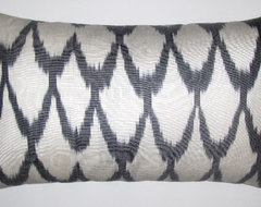 Uzbek ikat pillow covers eclectic pillows