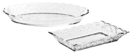 ARV BRÖLLOP Serving plate, set of 2 modern-serving-dishes-and-platters