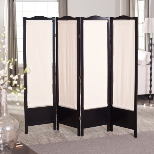 ck group brooks canvas 4 panel room divider black