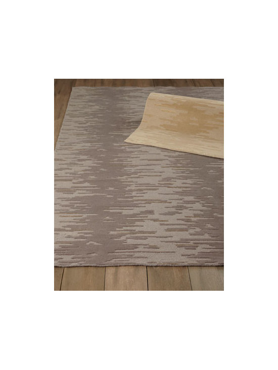 "Horchow - ""La Vista"" Rug - High/low texturing creates the illusion of shadow play for a rug that adds lasting beauty to any room. Hand knotted of wool and viscose. Select color when ordering. Sizes are approximate. Imported. See our Rug Guide for tips on how to measure f..."