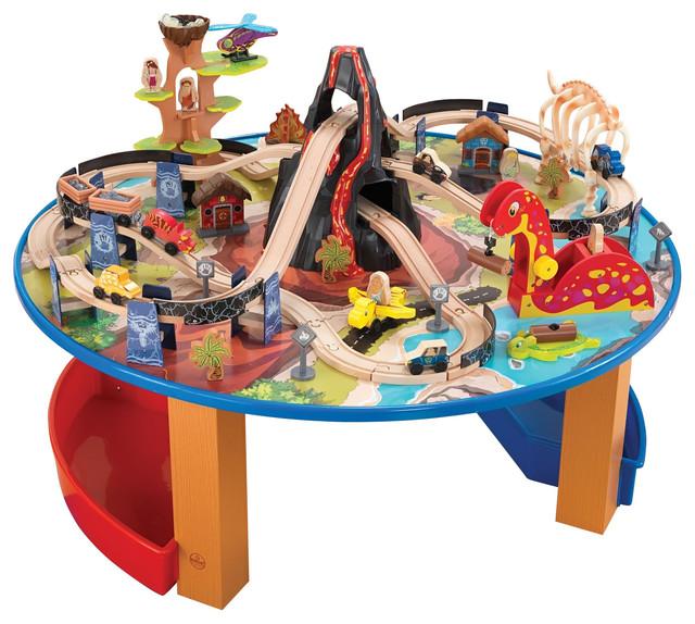 Kidkraft kids children decor fun play toy dinosaur train for Toy kitchen table