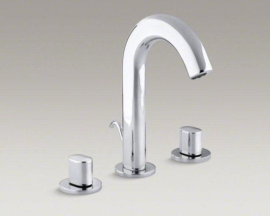 KOHLER Polished Chrome Oblo® Widespread Bathroom Sink Faucet With Oval Handles - The sleek, contemporary look of Oblo reflects Euro-modern bathroom styling with global appeal. Minimalist in tone, this Oblo sink faucet boasts a striking profile with elongated lines. It features two oval handles for comfortable operation, as well as easy-to-install and leak-free UltraGlide valves.