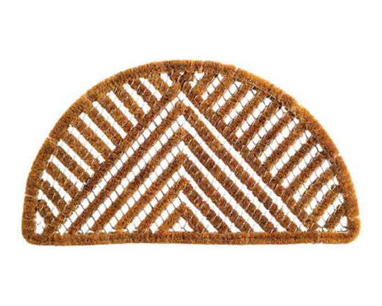 Imports Decor Semicircle Triangle Spiral Mat -