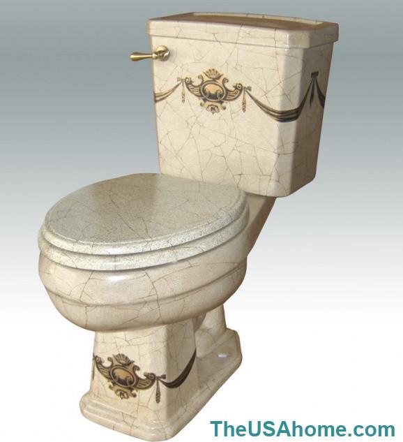 Hand Painted Toilet By Atlantis Porcelain Art