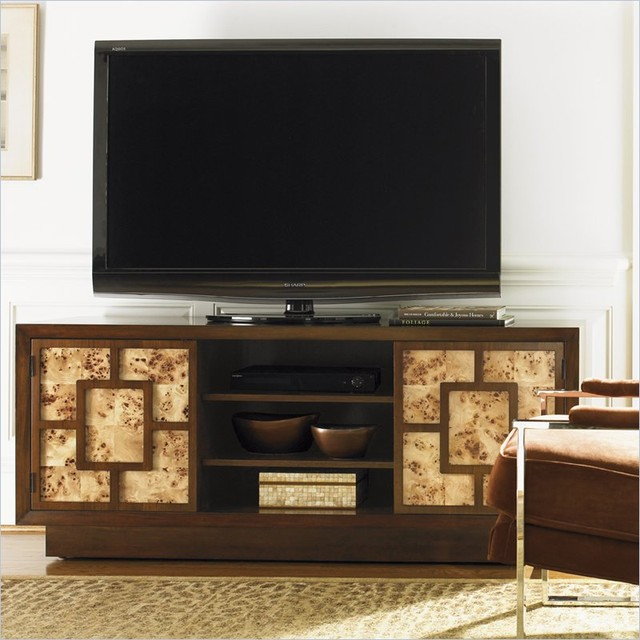 Lexington Mirage Allyson Entertainment Console in Cashmere Finish traditional-entertainment-centers-and-tv-stands
