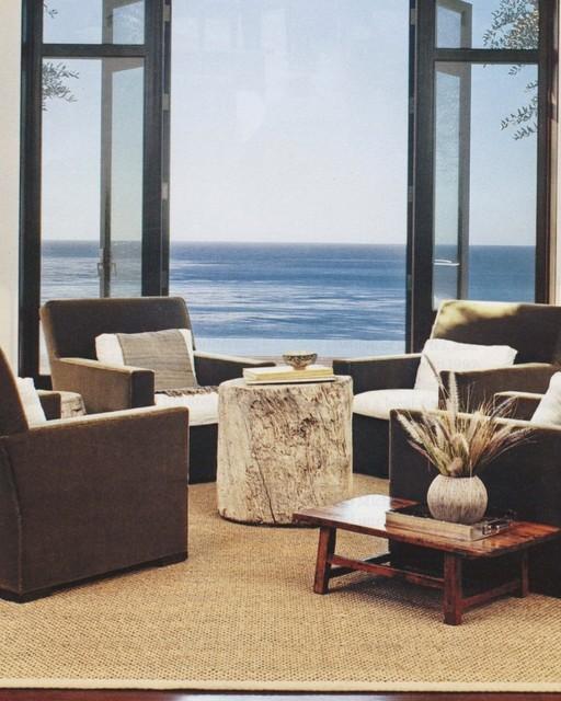Studio Sisal Rug in Living Room contemporary-rugs
