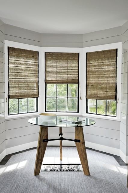 Smith and noble natural woven waterfall shades for Smith and noble shades