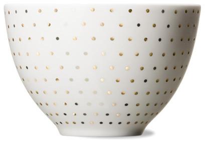Skål Bowl Gold Dot modern-serveware