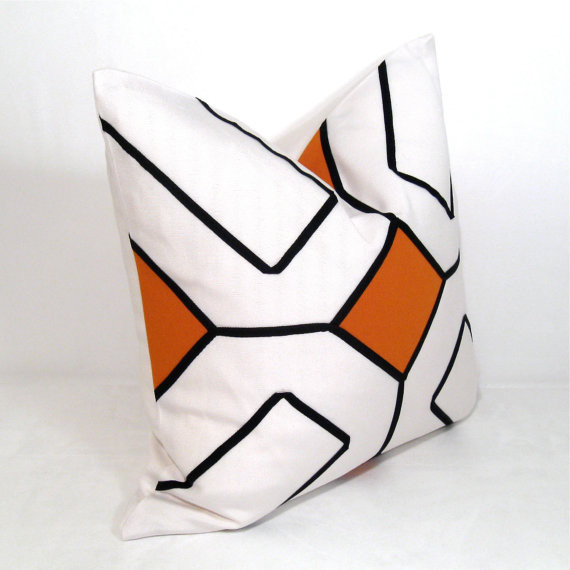 Orange Outdoor Pillow Cover By Mazizmuse contemporary-outdoor-pillows