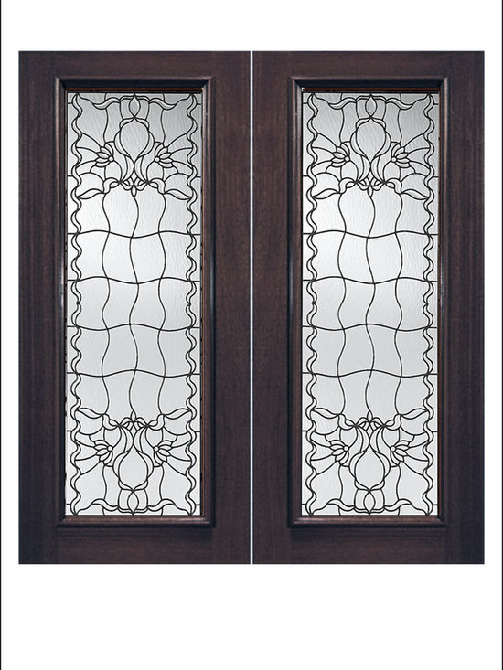 Exterior and Interior Beveled Glass Doors Model # 914 -