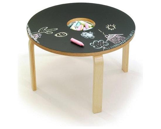 Woody Chalkboard Table -