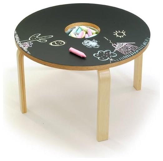 Woody Chalkboard Table modern-kids-tables
