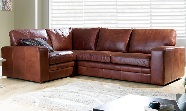 Sloane Leather Corner Sofa  sofas