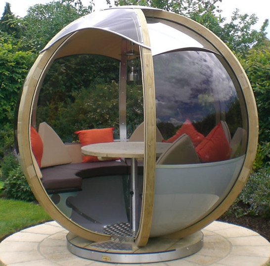 Rotating Garden Sphere Seater contemporary gazebos