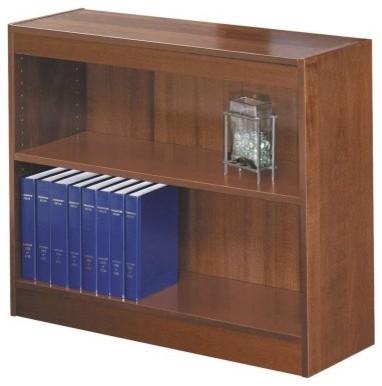 Safco 2-Shelf Square Edge Veneer Bookcase - Cherry modern-storage-units-and-cabinets
