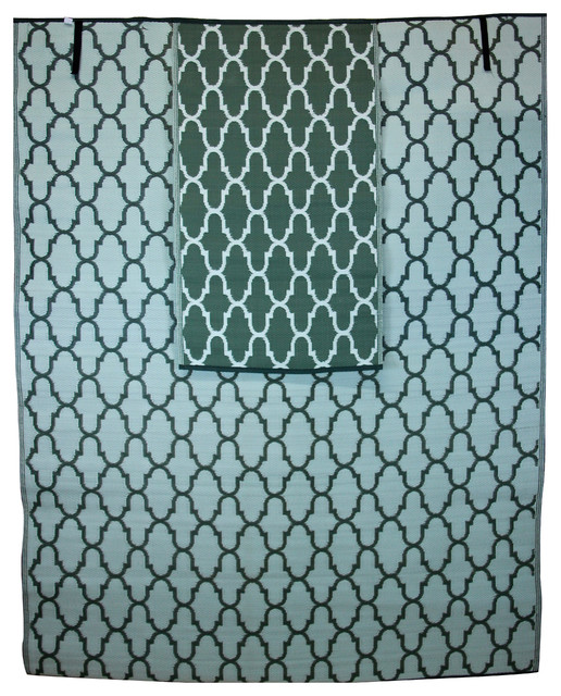 Homesuite Outdoor 8x10 Rug with Bonus 3x5 Runner Honey b