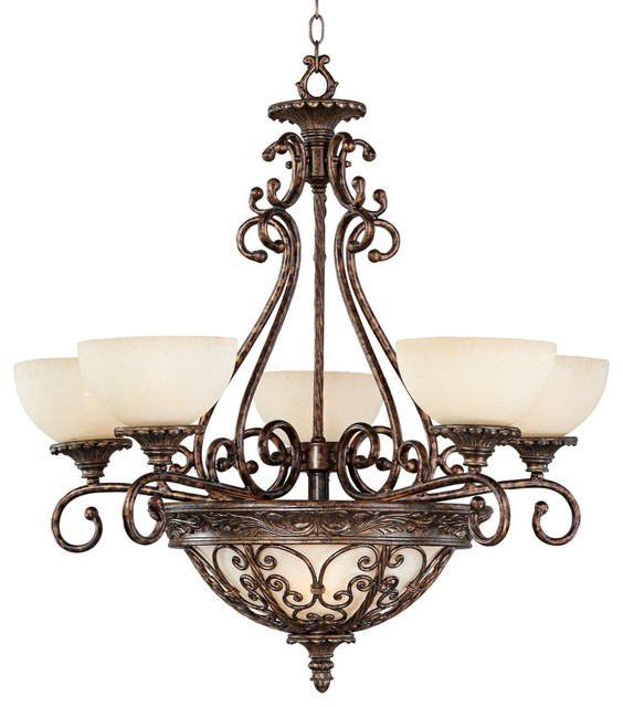 """Traditional Iron Gate Collection 30 1/2"""" Wide Pendant Chandelier traditional-chandeliers"""