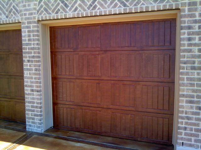Inexpensive garage door makeover traditional-exterior