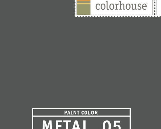 Colorhouse METAL .05 - METAL .05 is a graphite gray. Use this color on lower cabinets to anchor your kitchen or drum up some drama in a dining room by putting this color on the ceiling.