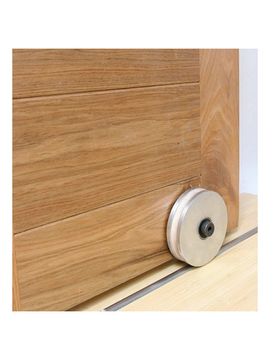 Barn Door Hardware - This bottom track rolling system has a very clean look and makes your door very secure.
