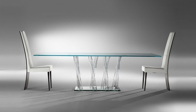 BAMBOO CLEAR MURANO DINING TABLE contemporary dining tables