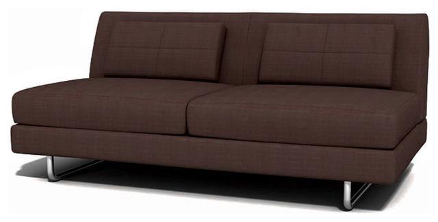 Hamlin Armless sofa, Chocolate contemporary-sofas