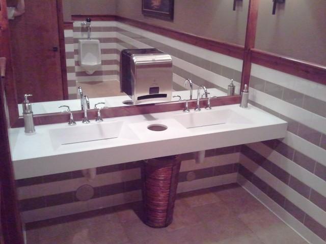 Christopher Steak House traditional-bathroom