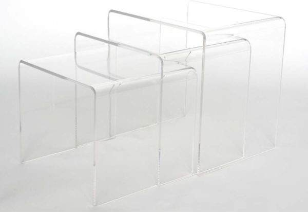 Altha acrylic nesting table set clear modern side