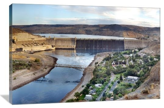 Grand Coulee Dam Panoramic 30 Quot X 20 Quot Gallery Wrapped