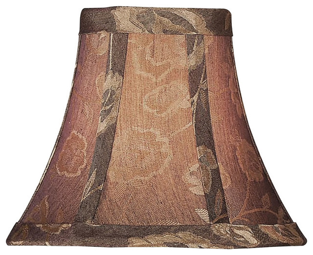 Chocolate Burgundy Bell Chandelier Lampshade traditional-lamp-shades