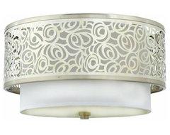 Quoizel Two-Light Josslyn Medium Flush Mount Ceiling Light, Brushed Nickel contemporary-ceiling-lighting