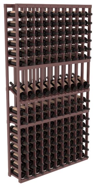 10 Column Display Row Wine Cellar Kit in Pine, Walnut Stain + Satin Finish contemporary-wine-racks