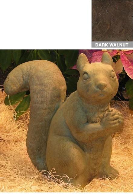 Sitting Squirrel Statue traditional-garden-sculptures