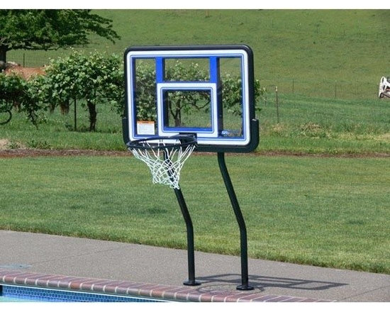 S.R. Smith S-BASK-44 Salt Pool Basketball Game with Anchors - -Commercial grade, 1.90 OD SealedSteel posts