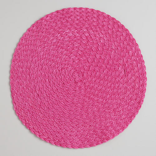 Honeysuckle Round Braided Placemats contemporary-placemats