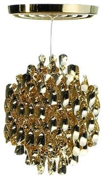 Spiral sp1 gold chandelier modern chandeliers